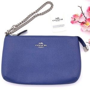 NWT Coach Crossgrain Leather Chain Wallet Wristlet